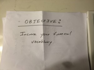 Increase your financial vocabulary