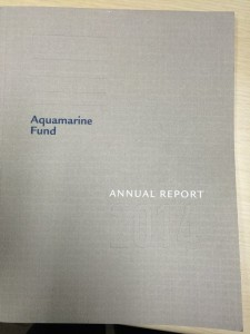 AQUAMARINE ANNUAL REPORT